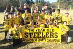 Steelers go undefeated in 7-8 year-old league to take championship