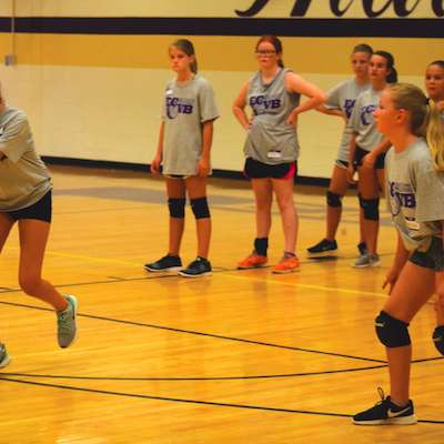 East Coweta High School holds volleyball camp