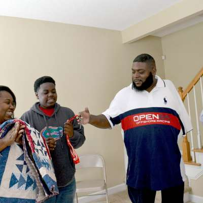 Disabled veteran given new home