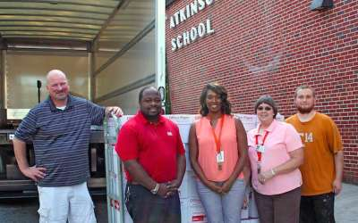 Local company donates pallets of paper to Northgate, Atkinson