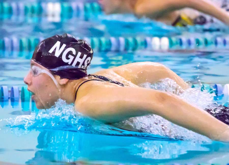 county swim meet times