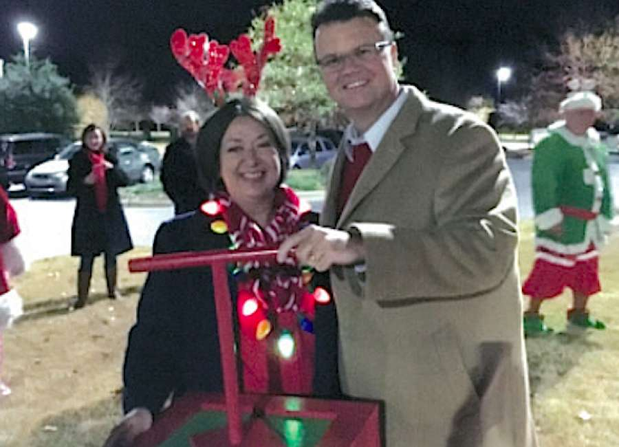 Piedmont celebrates season with star lighting