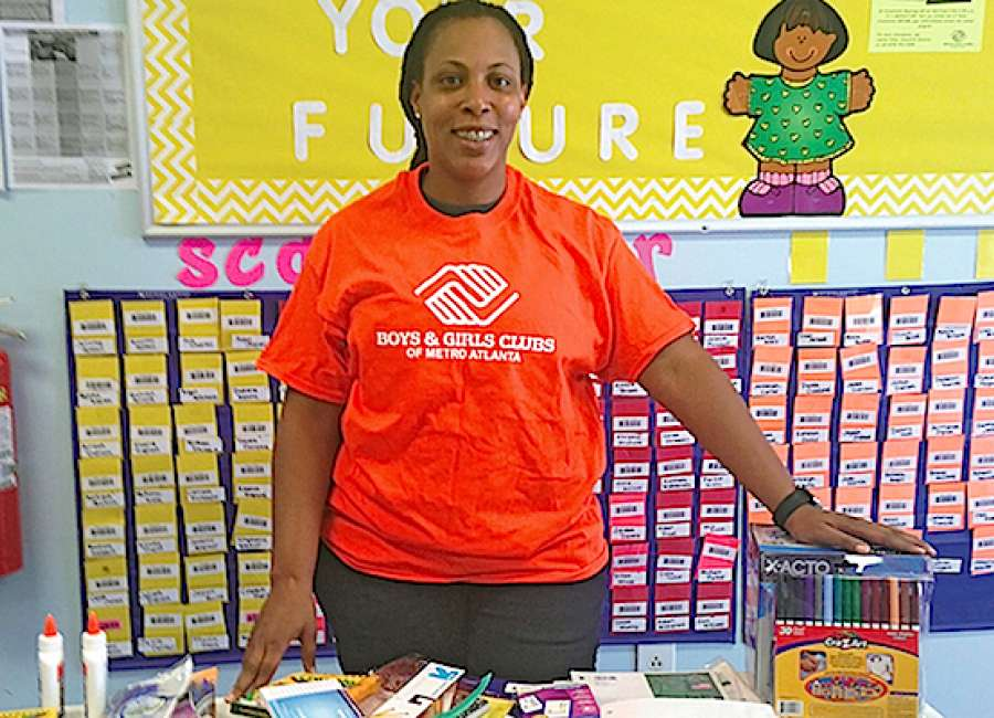 Teachers donate school supplies to ​Boys & Girls Clubs