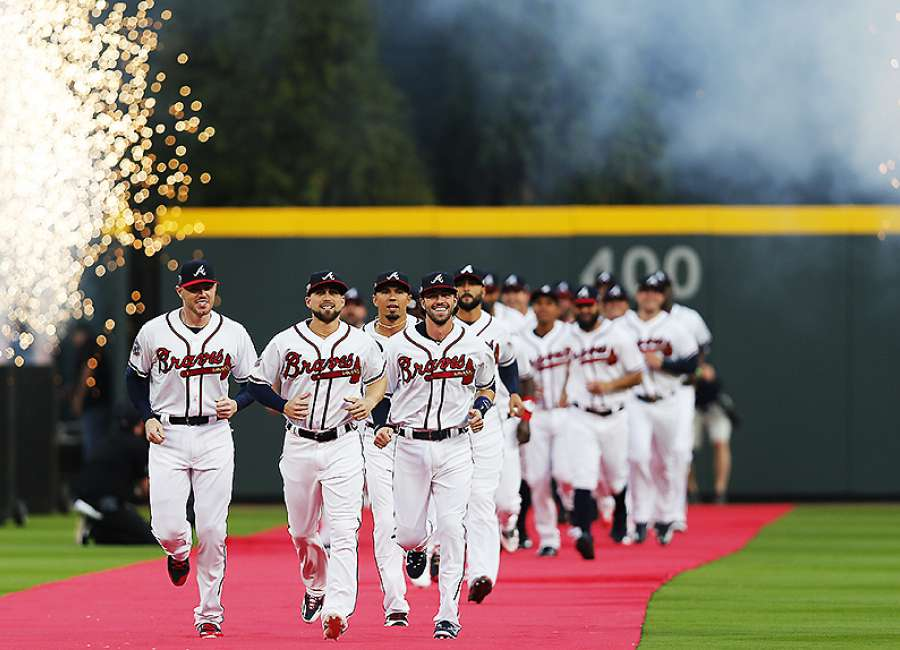 Braves open new stadium with win