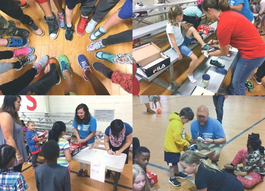 Church provides shoes to every student at Ruth Hill