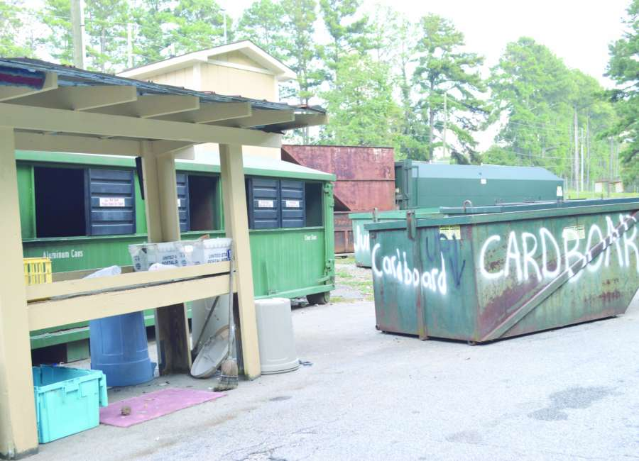 County employees will man garbage/recycling sites