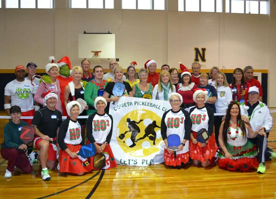 Coweta County Pickleball players gather for first Jingle Tournament