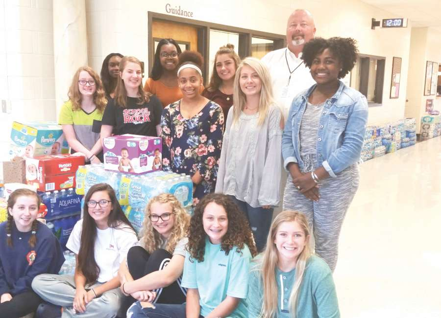 East Coweta High School receives large donations for Hurricane Harvey relief