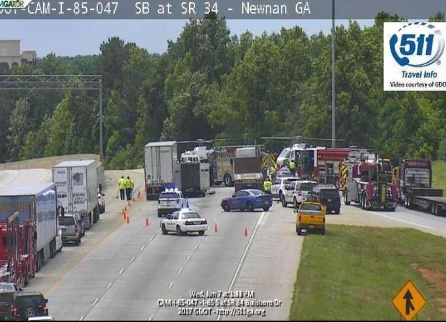 I-85 crash hospitalizes 3, livestock unharmed - The Newnan