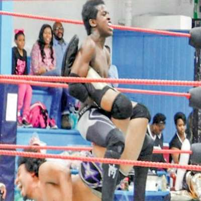 Local professional wrestler Ezekiel Wright is living the dream