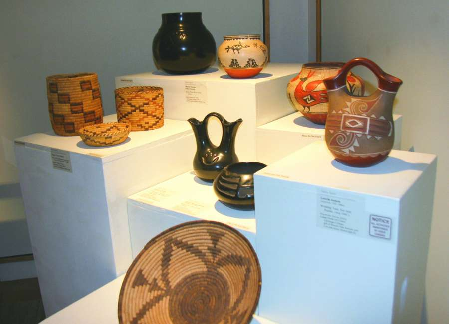 Native American art displayed in LaGrange