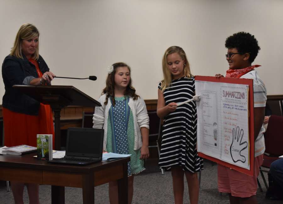 Newnan Crossing students use senses to explore book characters