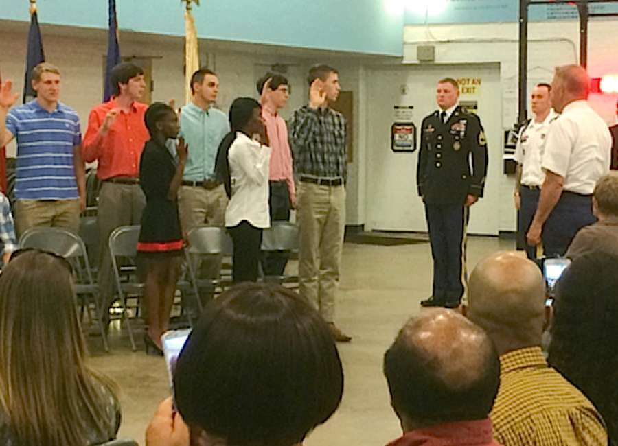 Newnan High celebrates military enlistees