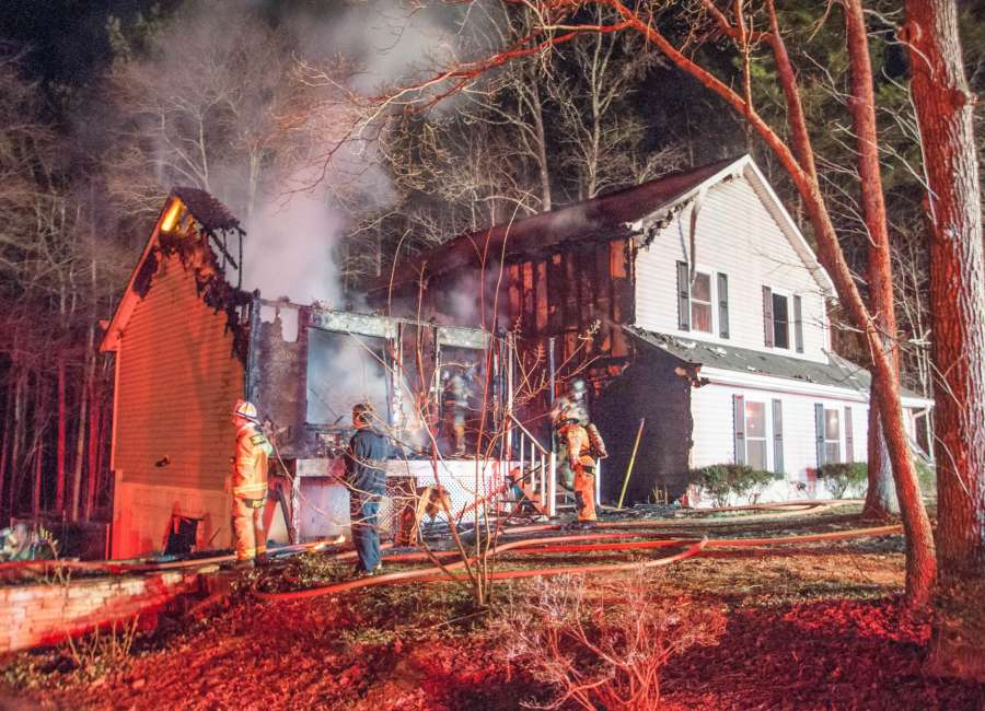 No injuries reported in house fire