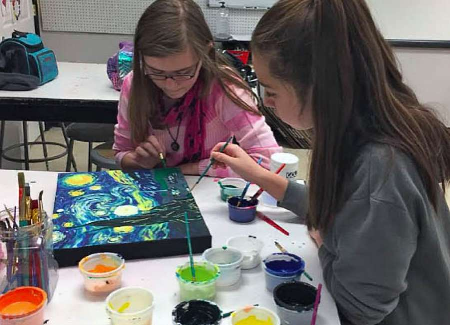 Odyssey students create artwork for state superintendent