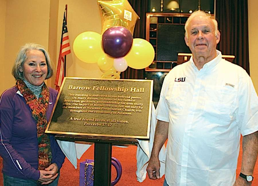 Presbyterians name fellowship hall for Barrow