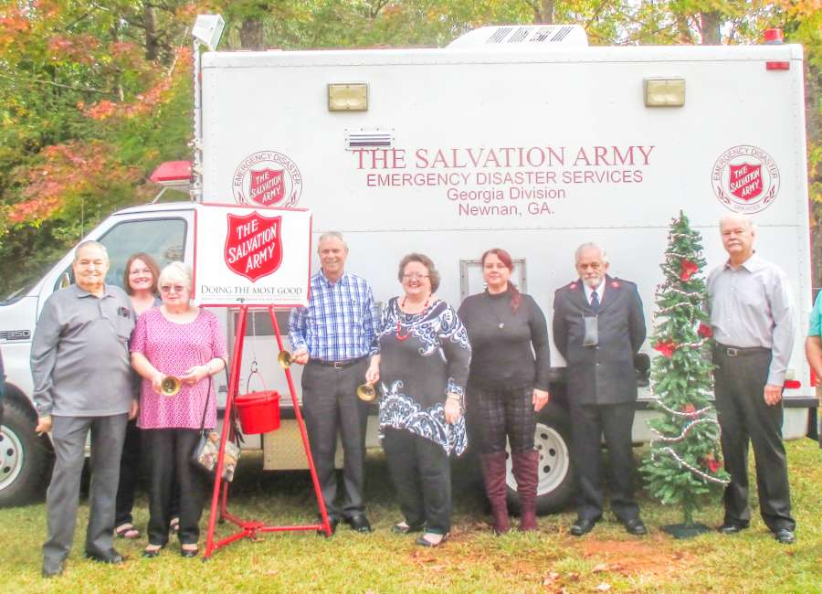 Bells ringing for Christmas Kettle kick off in Trail