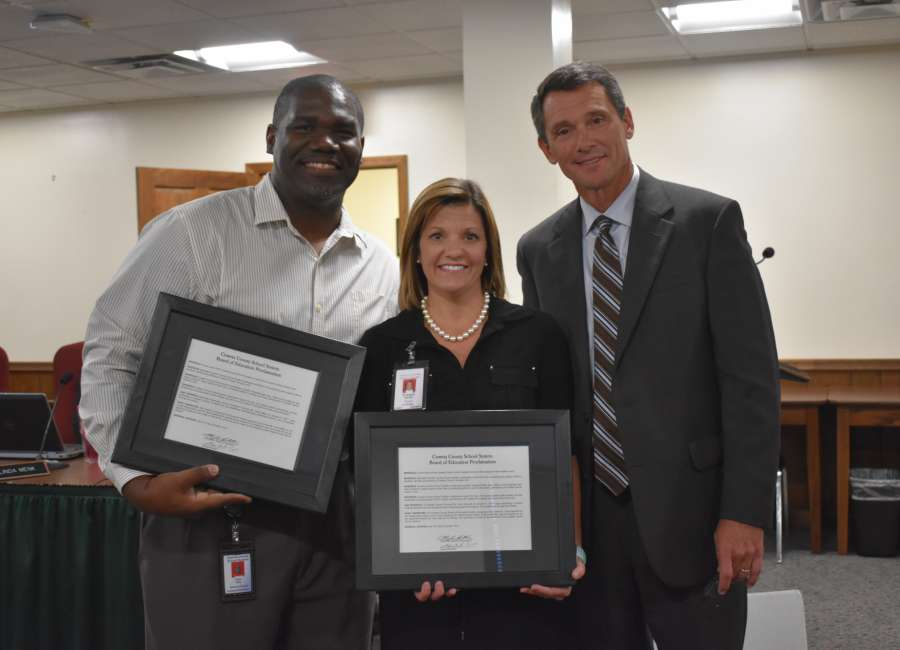 School administrators honored for aiding students in distress