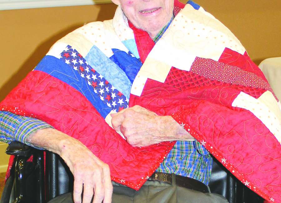 Sewell receives Quilt of Valor