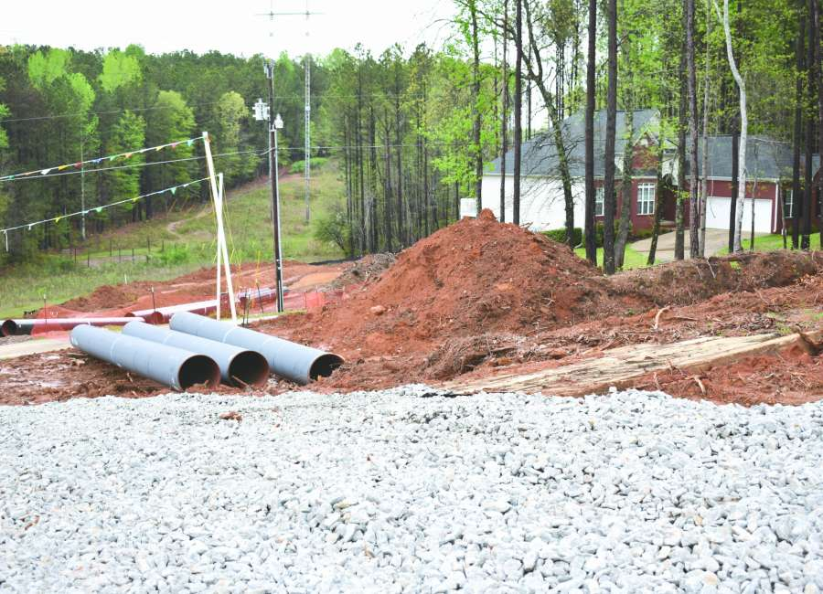 Some pipeline construction stopped temporarily
