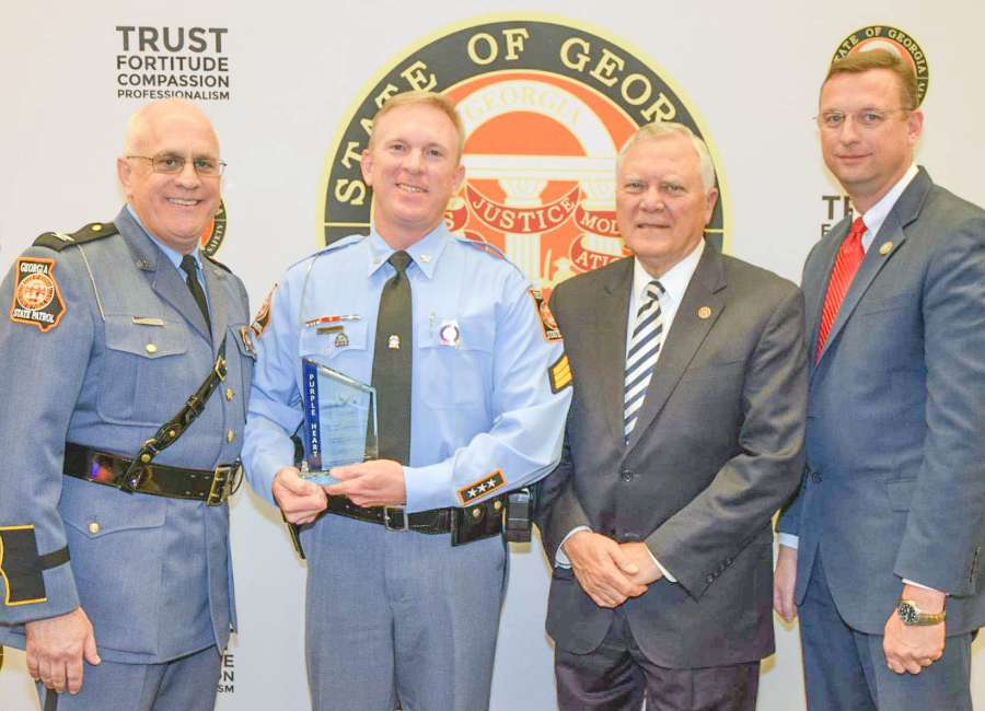 Trooper gets Purple Heart Award