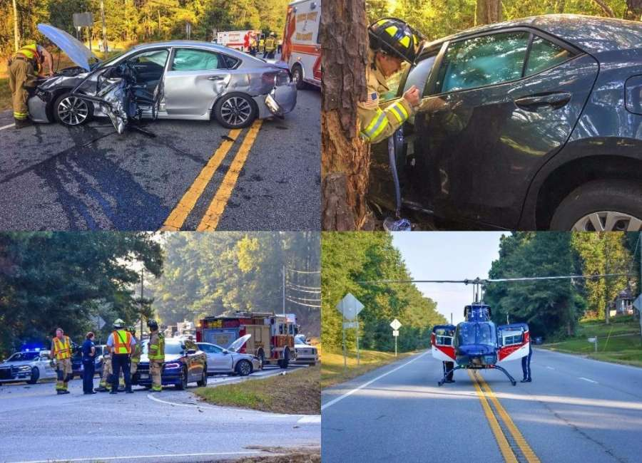 Two patients airlifted to Atlanta after car crash closes W