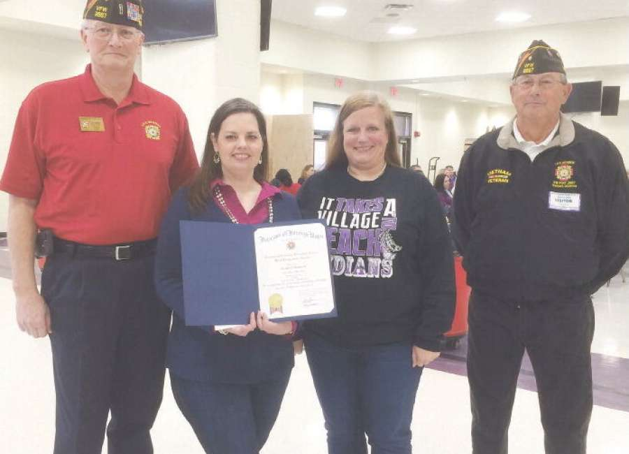 VFW awards educators in Coweta