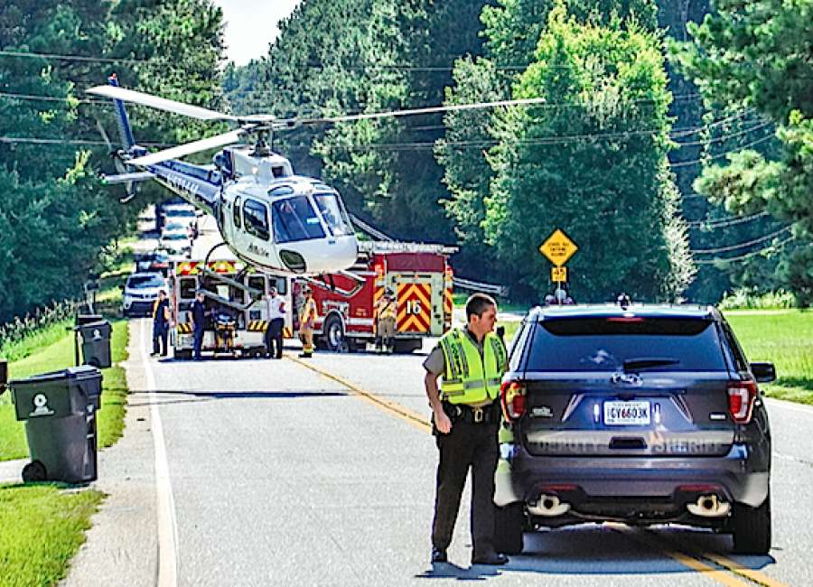 woman airlifted after two car wreck shuts down west hwy 34