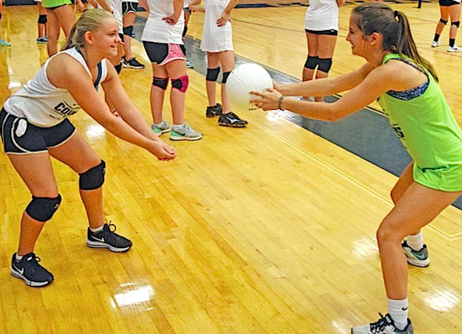 Young players improve at Lady Cougars volleyball clinic