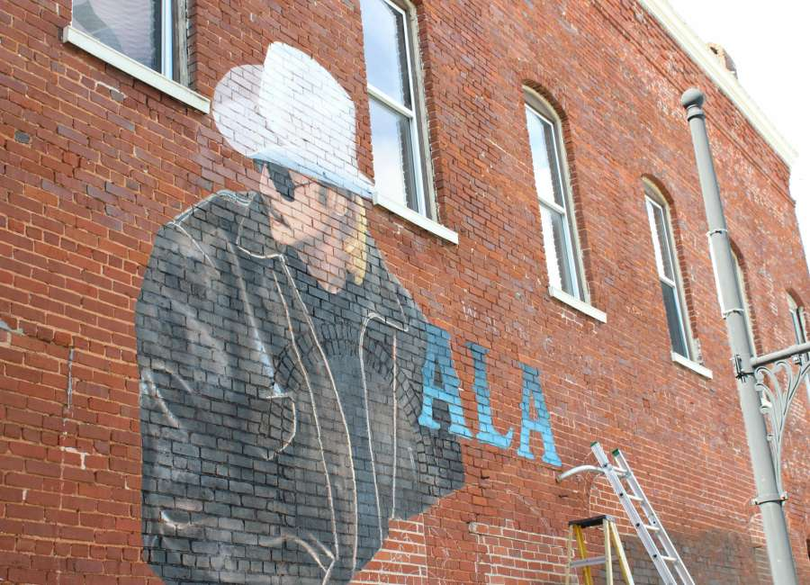 Alan Jackson Mural painted by artist-in-residence