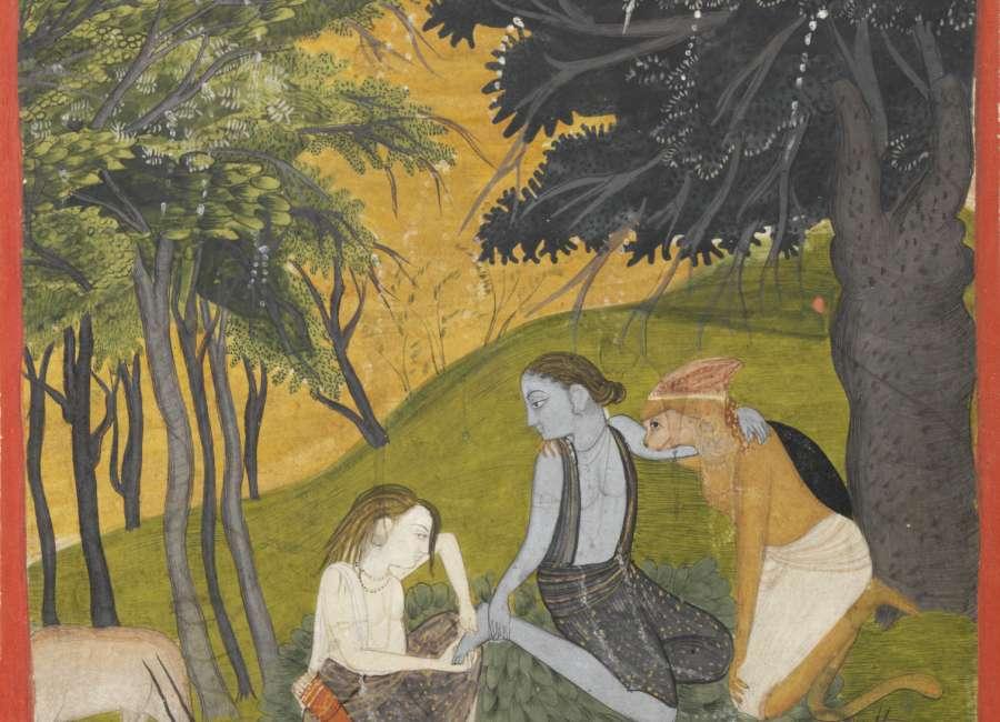 Art telling Ramayana, Hindu story, at Carlos Museum - The