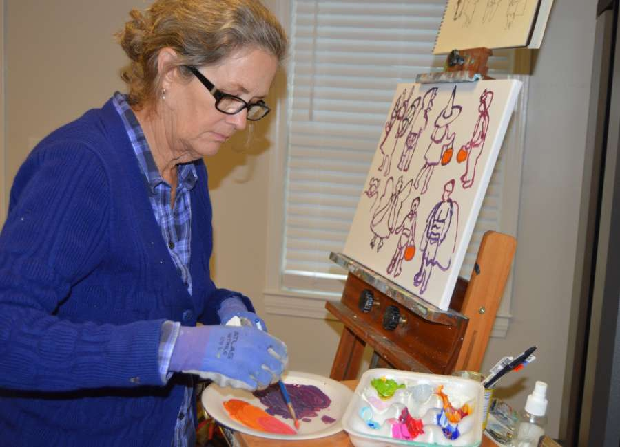 ArtRez painter draws inspiration from local community, people