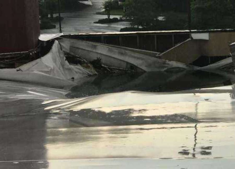 Bowling alley to remain closed after storm damages roof