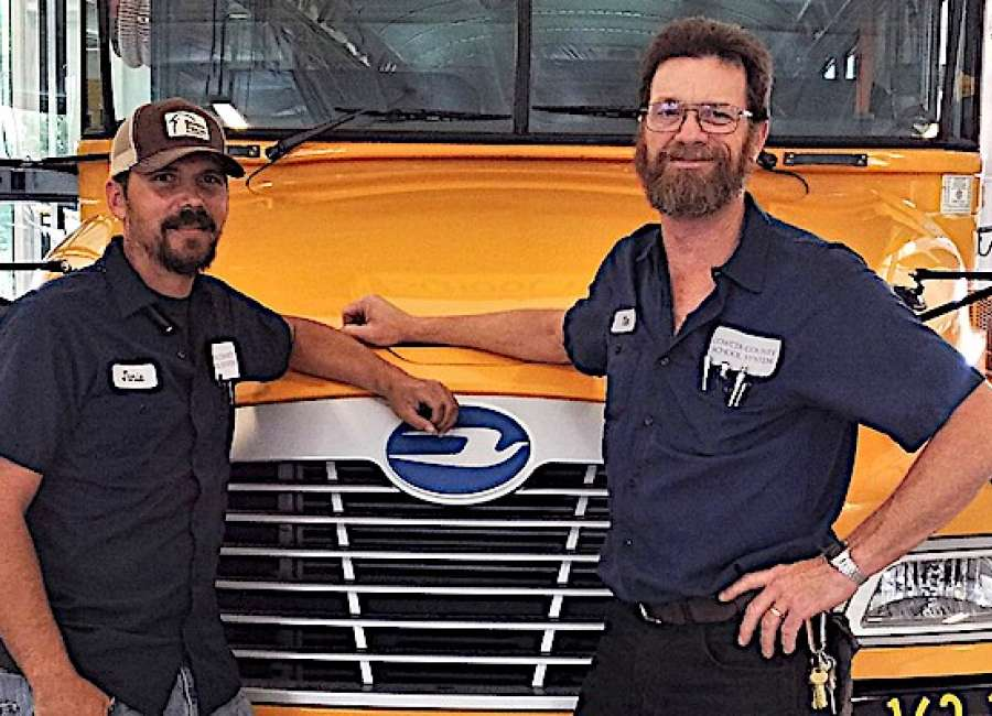 Bus technicians take first in regional competition