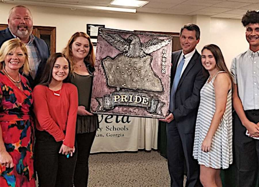 East Coweta students unveil artwork honoring Barker