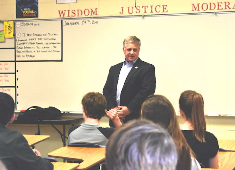 Ferguson schools students on a congressman's life