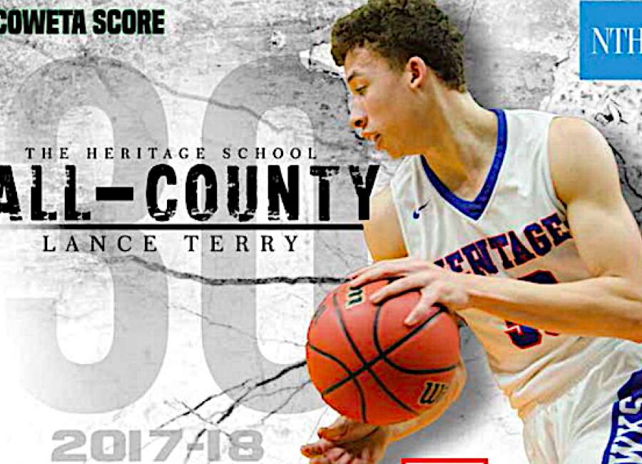 Heritage School guard Lance Terry named All-County MVP