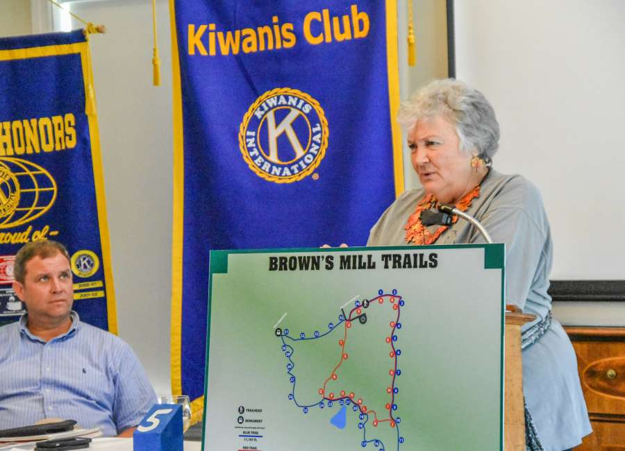 Kiwanians hear about Brown's Mill improvements