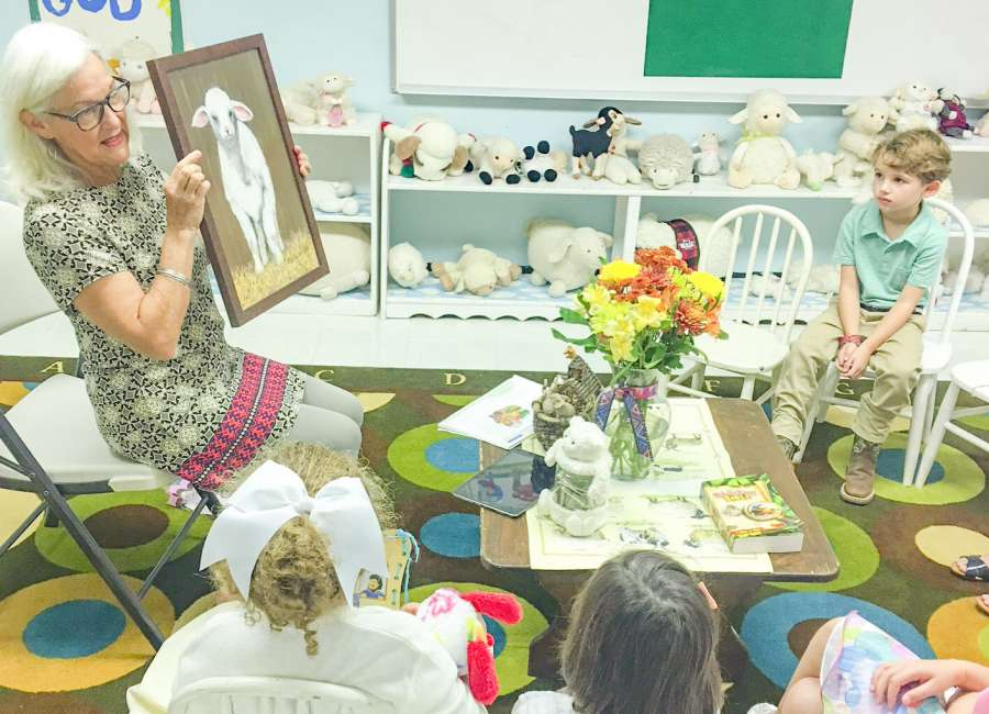 Lamb painting finds a home at Central Baptist