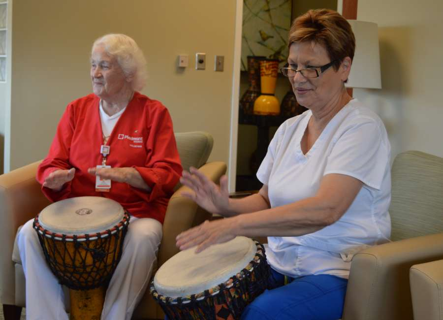 Local drumming class helps patients fighting cancer