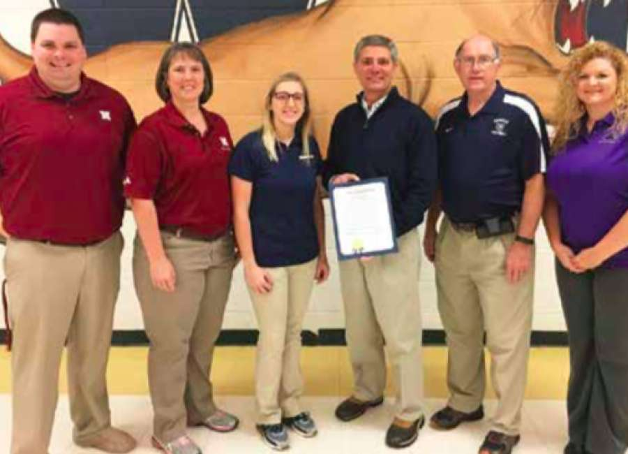 Local high school athletic trainers honored