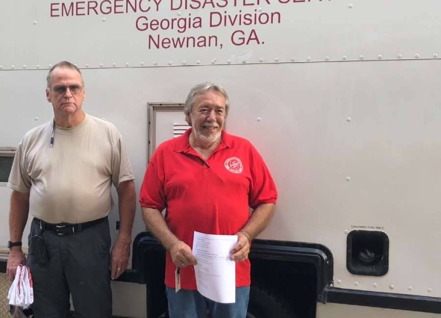 ​  Local Salvation Army canteen deploys to Charlotte