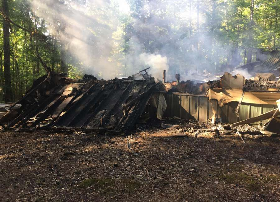 Mother's Day fire destroys home