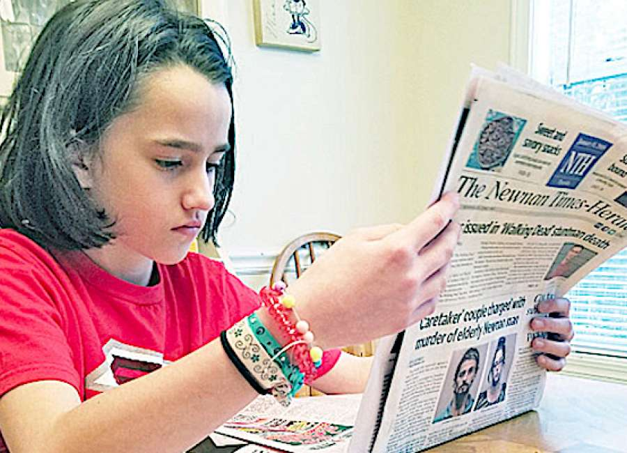 Nine-year-old Macie Crittenden has a nose for news