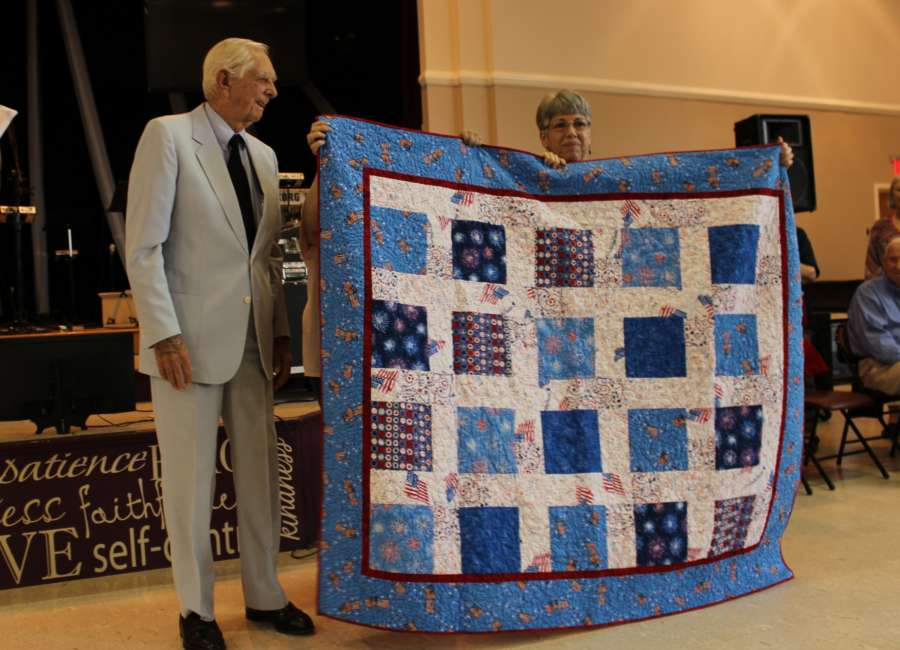 Quilts of Valor presented at First Methodist