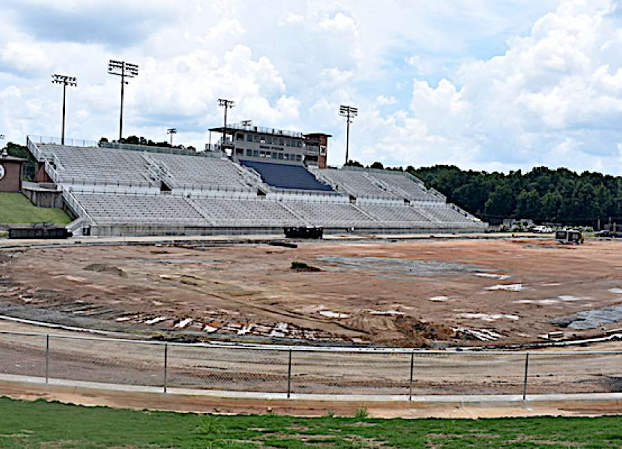 Stadiums prep for synthetic turf installation