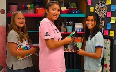 Students can 'shop' for free school supplies at school