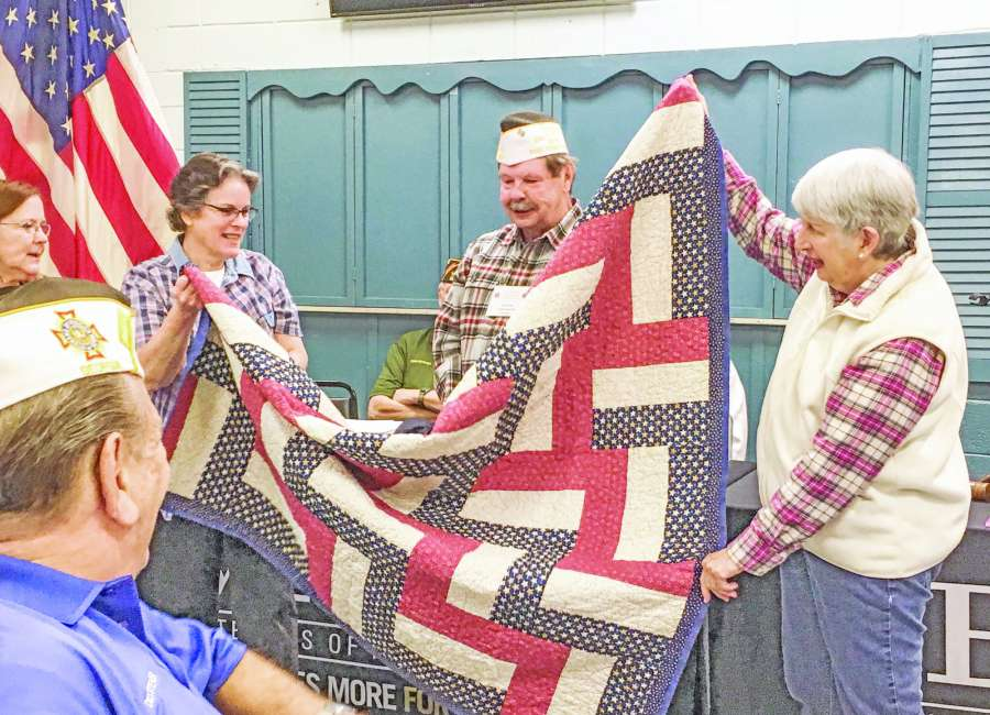 Ward receives Quilt of Valor