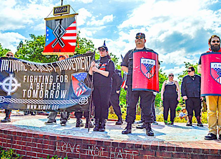 White supremacy group gathers with little fanfare