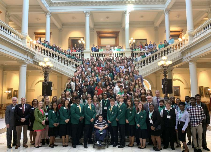Coweta youths take part in 4-H Day at Capitol